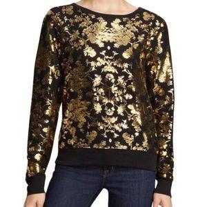 WILDFOX | Gold Moody Floral Jewel Tone Sweatshirt